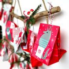 BRANCH WALL HANGERS -  Ideal to create an Advent Calendar- Set of Three
